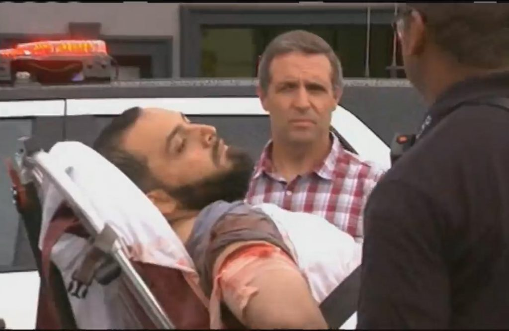 Ahmad Khan Rahami being taken into custody by police. Photo from video still/ ABC