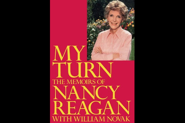 "October 1989 - Nancy writes ""My Turn,"" a memoir on the Reagan White House years. The book becomes a best-seller."