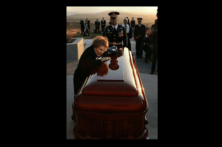 June 5, 2004 - Mr. Reagan dies at age 93. His state funeral on June 11 culminates in a sunset burial at the Reagan Library.
