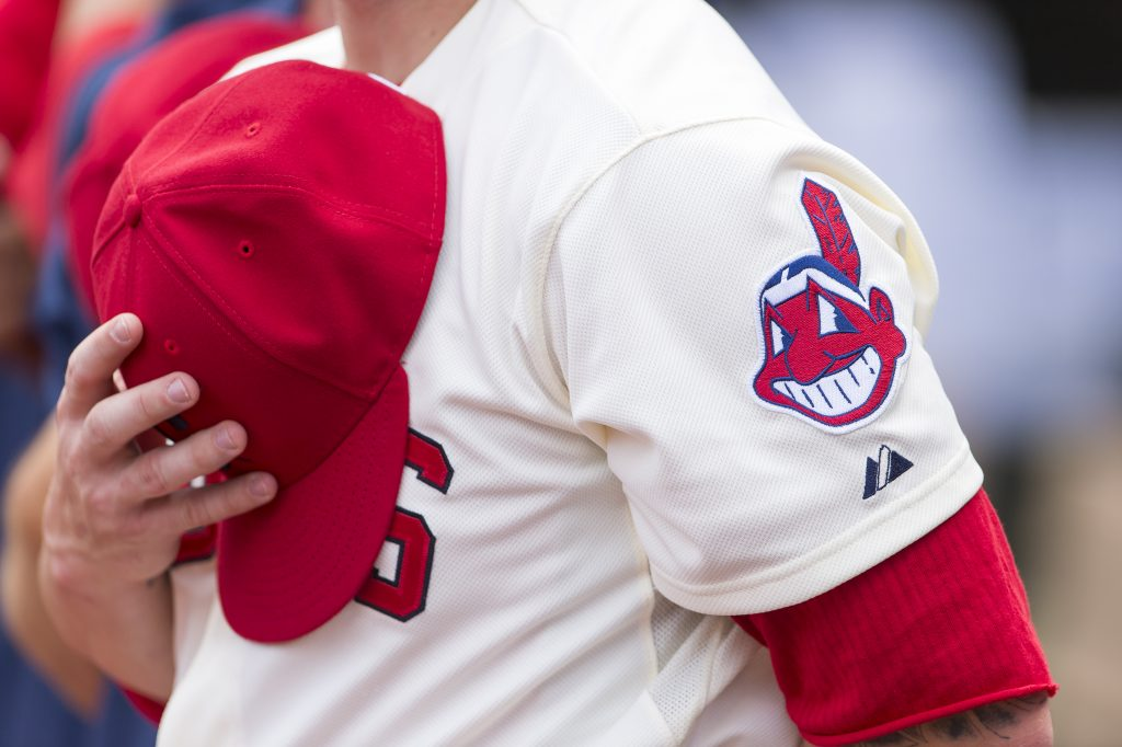 The Cleveland Indians' Chief Wahoo logo is yet again facing criticism for being disparaging of Native Americans. Photo by Jason Miller/Getty Images
