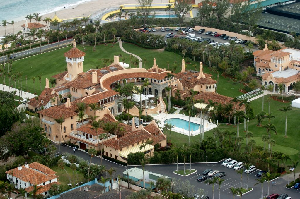 An ariel view of Mar-a-Lago. Donald Trump has visited five times in his 12 weeks in office.   Photo by John Roca/NY Daily News/Getty Images.