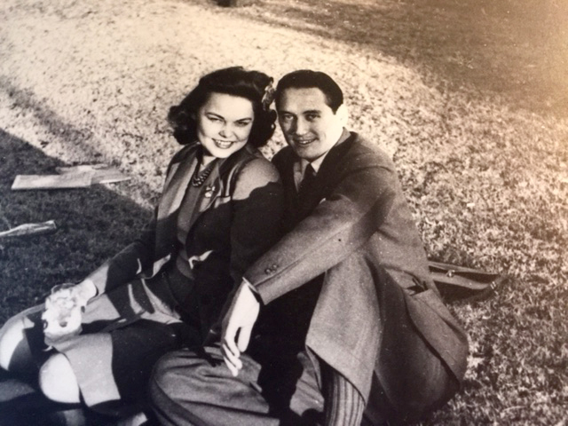 The author's parents, circa 1943. Photo courtesy of Mona Gable
