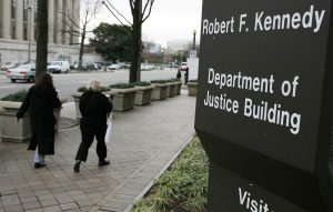 File photo of the Department of Justice in Washington, D.C. by Joshua Roberts/Reuters
