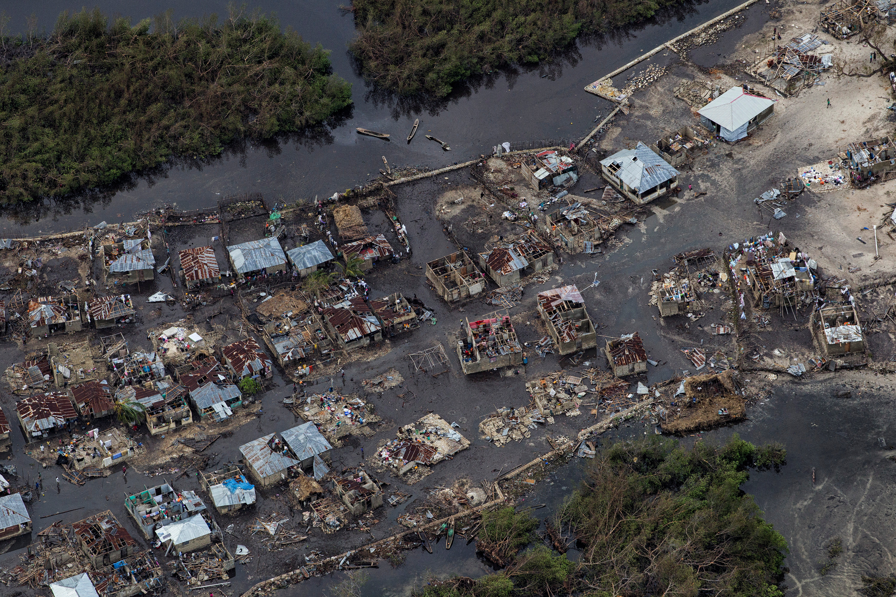 Damage from Hurricane Matthew is seen from the air along the west coast of Haiti, October 6, 2016. Picture taken October 6, 2016. Logan Abassi, courtesy of UN/MINUSTAH/Handout via REUTERS ATTENTION EDITORS - THIS IMAGE WAS PROVIDED BY A THIRD PARTY. EDITORIAL USE ONLY. NO RESALES. NO ARCHIVE. TPX IMAGES OF THE DAY - RTSRB4H