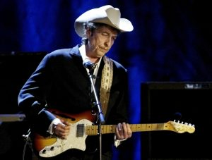 Rock musician Bob Dylan performs at the Wiltern Theatre in Los Angeles in May 2004. Photo by Rob Galbraith/Reuters