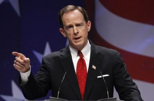 U.S. Senator Toomey speaks to the 38th annual Conservative Political Action Conference meeting in Washington DC