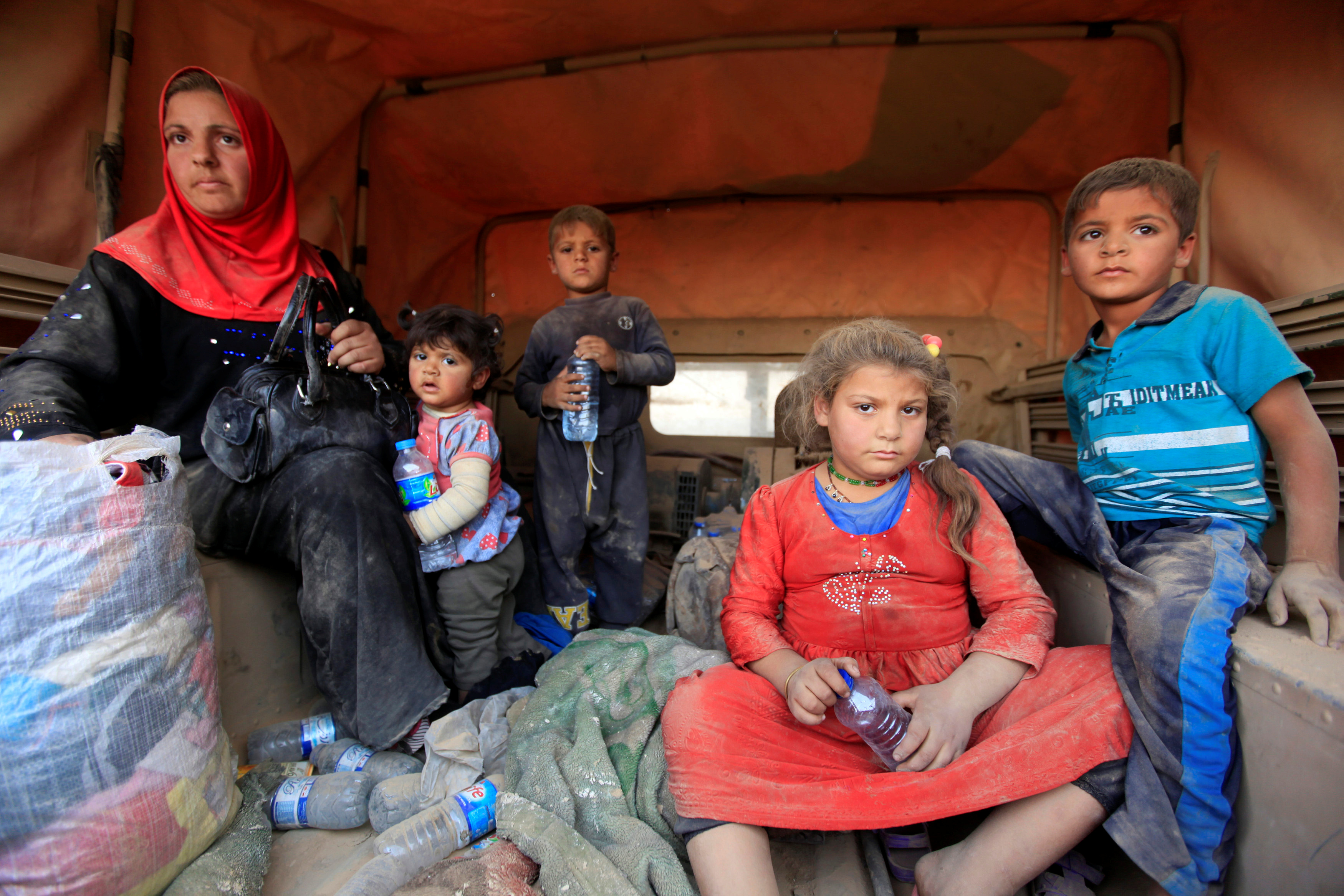 About 300,000 people have fled other towns in Iraq as forces moved toward Mosul, according to Mercy Corps. Photo by Alaa Al-Marjani/Reuters