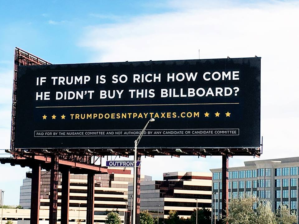 This billboard was erected outside Chicago's O'Hare airport. Photo courtesy of Outfront Media