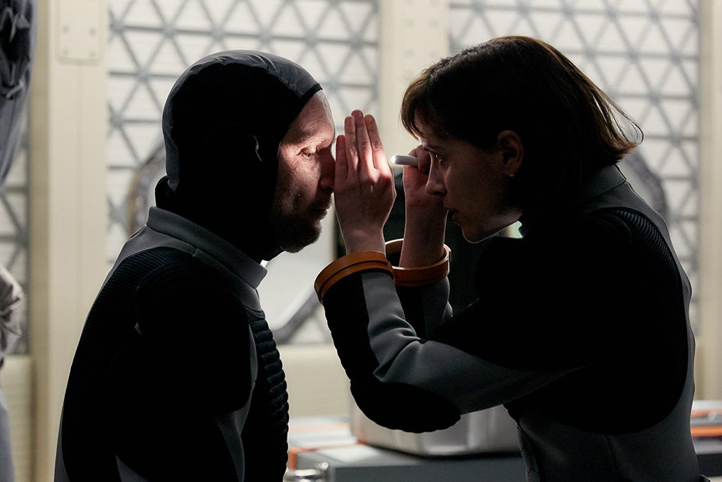 Ben Cotton and Clémentine Poidatz in MARS. Photo by National Geographic Channels/Robert Viglasky