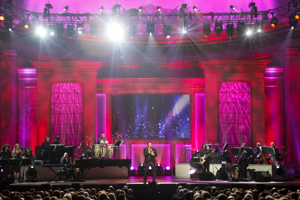 Smokey Robinson performs at DAR Constitution Hall in Washington, D.C. Photo by Shawn Miller