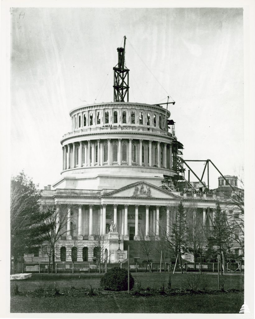 Photo taken Feb. 12, 1861. Photo courtesy of Architect of the Capitol