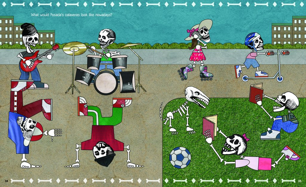 "Art from ""Funny Bones: Posada and His Day of the Dead Calaveras"" by Duncan Tonatiuh. Image provided by Abrams"