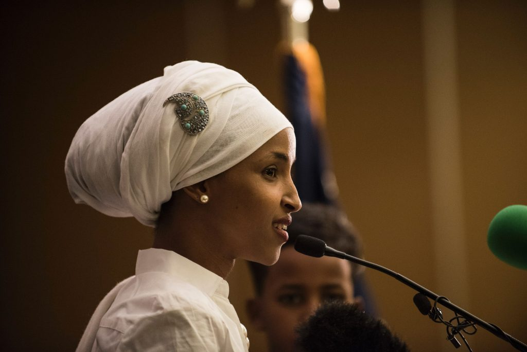 Ilhan Omar became the nation's first Somali-American lawmaker after winning the seat for State Representative for Minnesota's District 60B. Photo by Stephan Maturen/ARP/Getty Images.