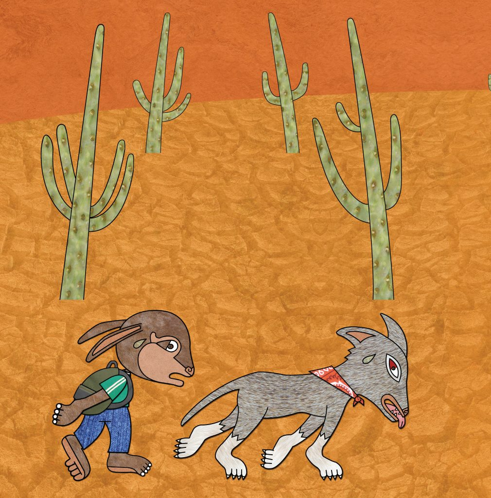 "Art from ""Pancho Rabbit and the Coyote: A Migrant's Tale"" by Duncan Tonatiuh. Image provided by Abrams"