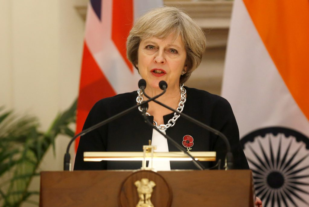 Photo of Britain's Prime Minister Theresa May by Adnan Abidi/Reuters