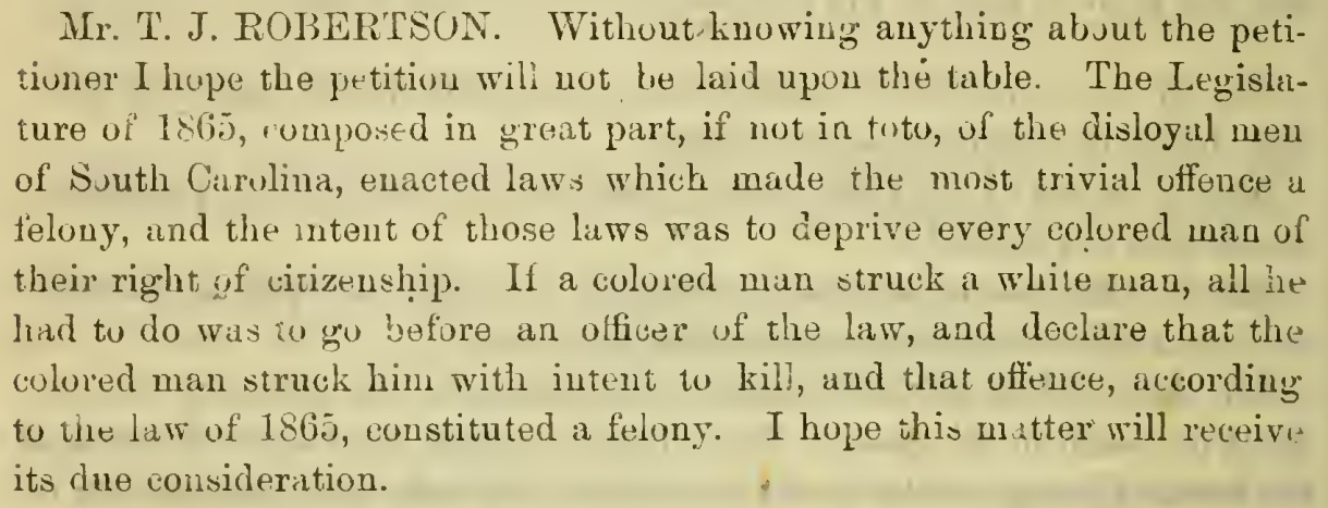 """Photo from the """"Proceedings of the Constitutional convention of South Carolina, held at Charleston, S. C., beginning January 14th and ending March 17th, 1868."""" Book in the collection of University of South Carolina Coleman Karesh Law Library, courtesy of Internet Archive"""