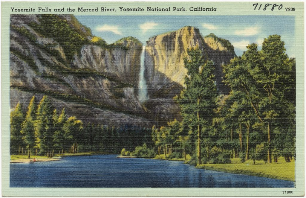 After a year like 2016, it's nice to know we still have national parks to escape to. 1940's era postcard via the Boston Public Library