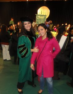 Aya Hijazi (right) with sister Alaa