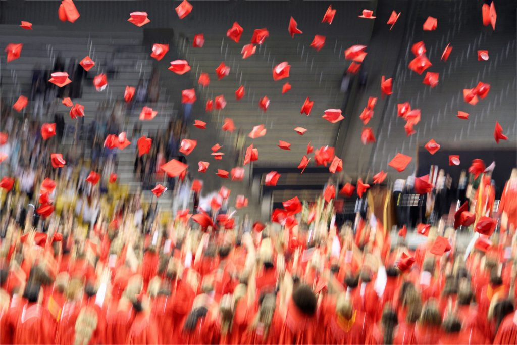 Graduation rates have been creeping up for years, with 2016 getting the best marks yet. Photo by Getty Images