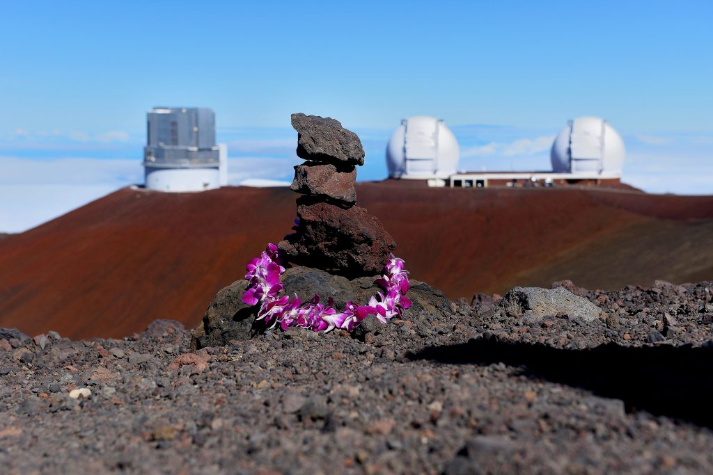 The Mauna Kea Observatory is a set of independent telescopes, placed on the summit of Mauna Kea volcano on the island of Hawaii. The altitude in the middle of the Pacific Ocean and isolation make the Mauna Kea absolutely one of the best sites in the world for astronomical observation.(Photo by Andrea Franceschini/Corbis News via Getty Images)