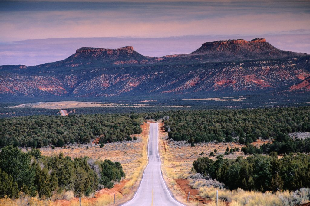 The Bears Ears buttes, located in Utah. The Bears Ears National Monument in Utah is one of two designations President Barack Obama made at the end of his term, granting protection to land considered to be sacred. Photo by Witold Skrypczak/Getty Images