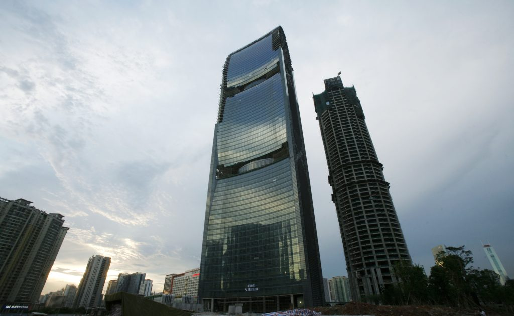 The Pearl River Tower was built using an environmentally friendly concept. Photo by Bobby Yip/REUTERS