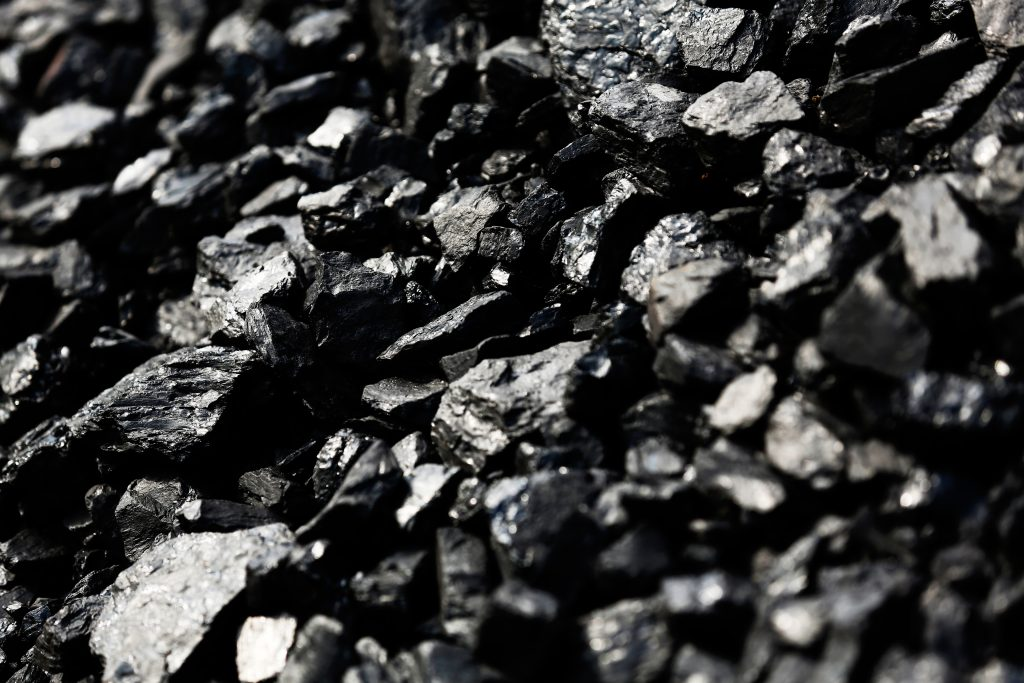 Coal waits to be among the last shipments to be loaded on train cars to depart the Hobet mine in Boone County, West Virginia. Picture taken in 2016. Photo by Jonathan Ernst/Reuters