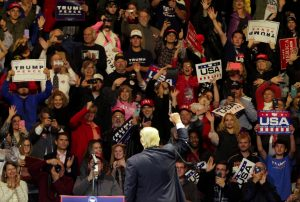 """U.S. President-elect Donald Trump speaks at a rally in Cincinnati, Ohio, December 1, 2016 as part of their """"USA Thank You Tour 2016"""". REUTERS/William Philpott - RTSUABZ"""