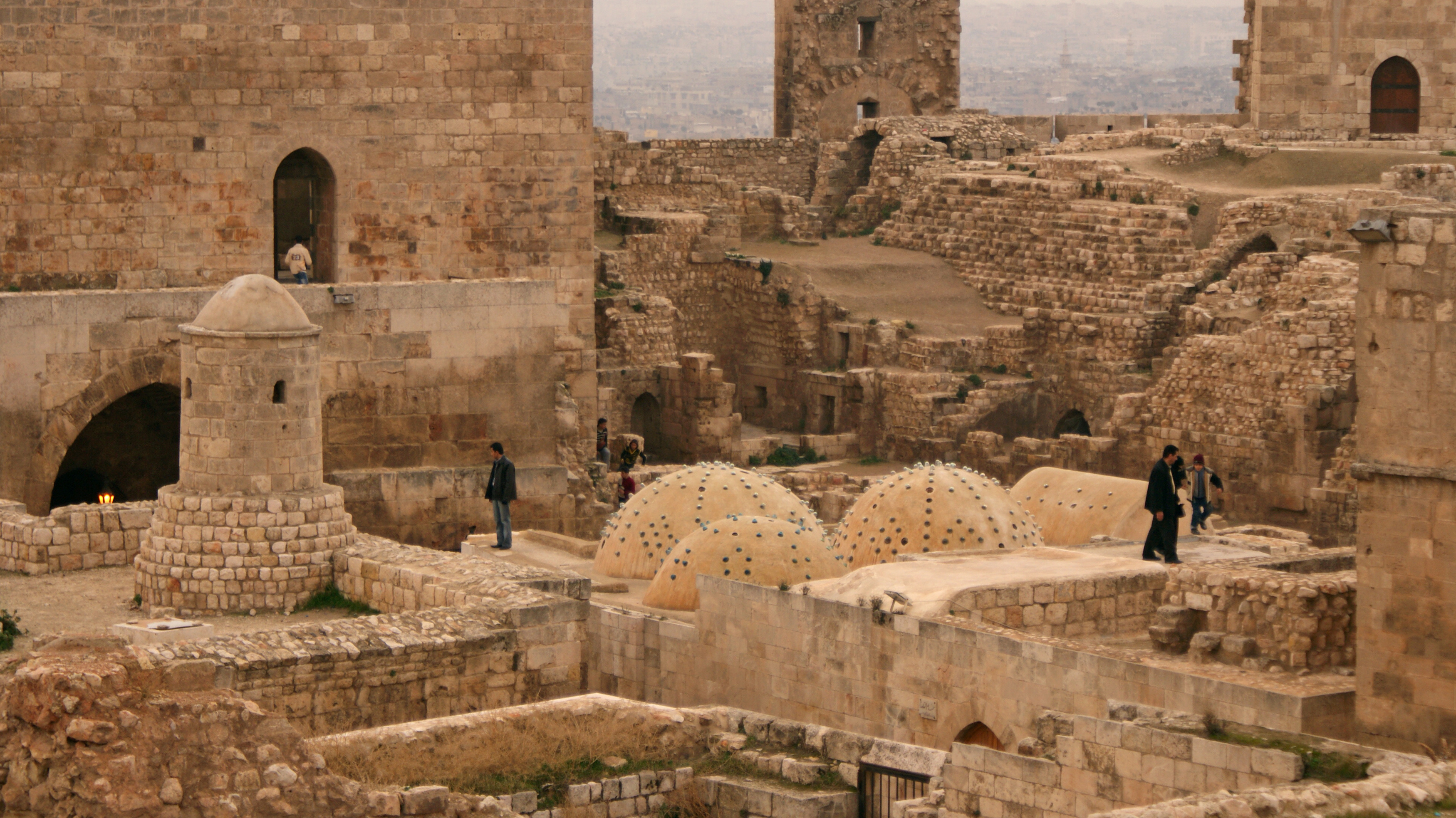 People tour Aleppo's historic citadel, one of the oldest known castles in the world, on Dec. 11, 2009. Photo by Khalil Ashawi/Reuters