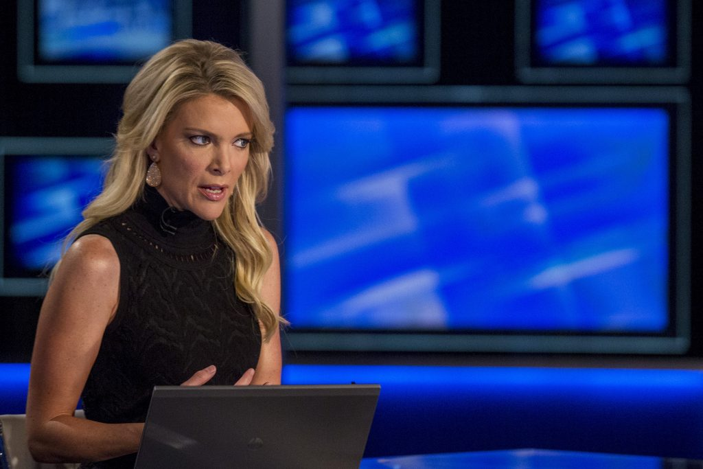 Host Megyn Kelly prepares for her Fox News Channel show 'The Kelly File' in 2015. Photo by Brendan McDermid/Reuters