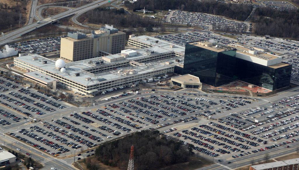 An aerial view of the National Security Agency headquarters in Ft. Meade, Maryland. Photo by Larry Downing/Reuters