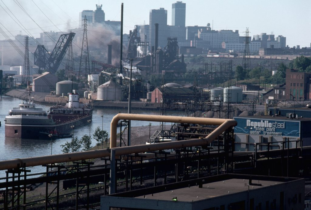 Cuyahoga River in Cleveland. Pollution in the river has fueled fires, one of which in 1969 led to the creation of the Clean Water Act. Photo by © Ted Spiegel/CORBIS/Corbis via Getty Images