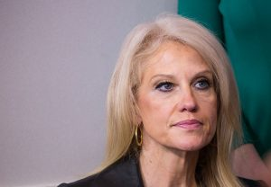 A woman from Chevy Chase, Maryland, has been charged with second-degree assault and disorderly conduct involving a confrontation with White House counselor Kellyanne Conway in October. Photo by Cheriss May/NurPhoto via Getty Images