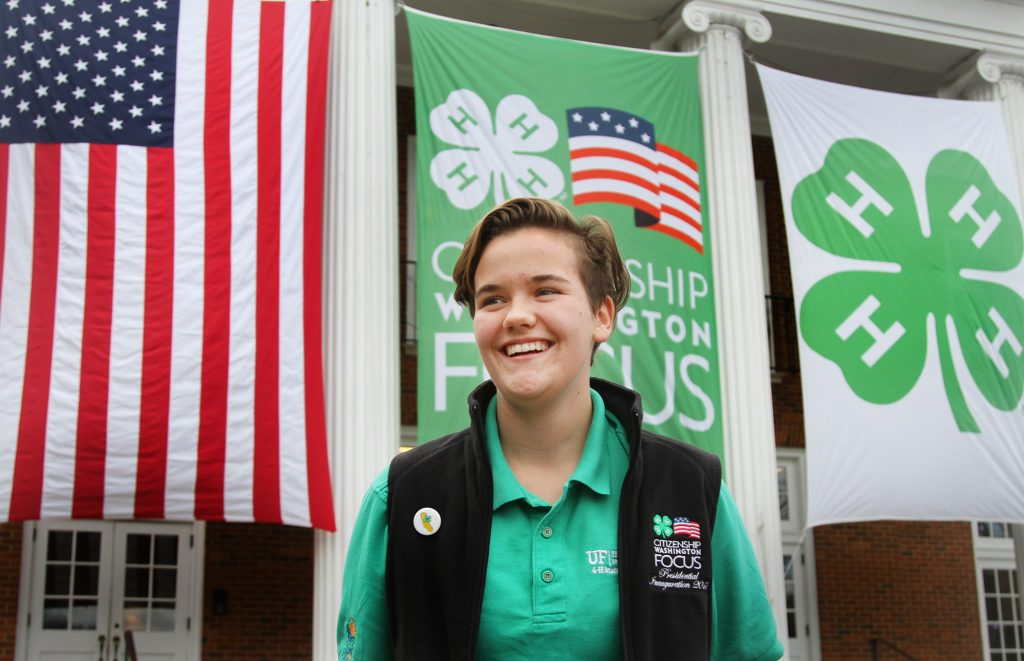 Katie Shelley of Florida at the National 4-H Conference Center in Chevy Chase, MD on Wednesday, January 18, 2017. Photo by Abbey Oldham