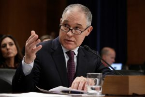 Oklahoma Attorney General Scott Pruitt testifies before a Senate Environment and Public Works Committee confirmation hearing on his nomination to be administrator of the Environmental Protection Agency in Washington, U.S., January 18, 2017. REUTERS/Joshua Roberts - RTSW419