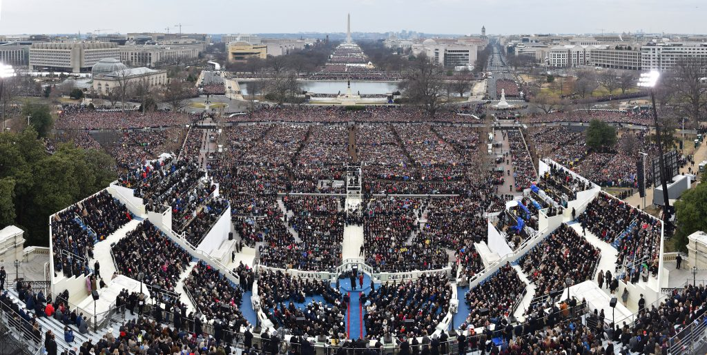 Panoramic of President Donald Trump's Inauguration at the Capitol H…