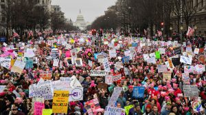 Hundreds of thousands of demonstrators took part in the Women's March in Washington, D.C., on Jan. 21. Photo by Bryan Woolston/Reuters
