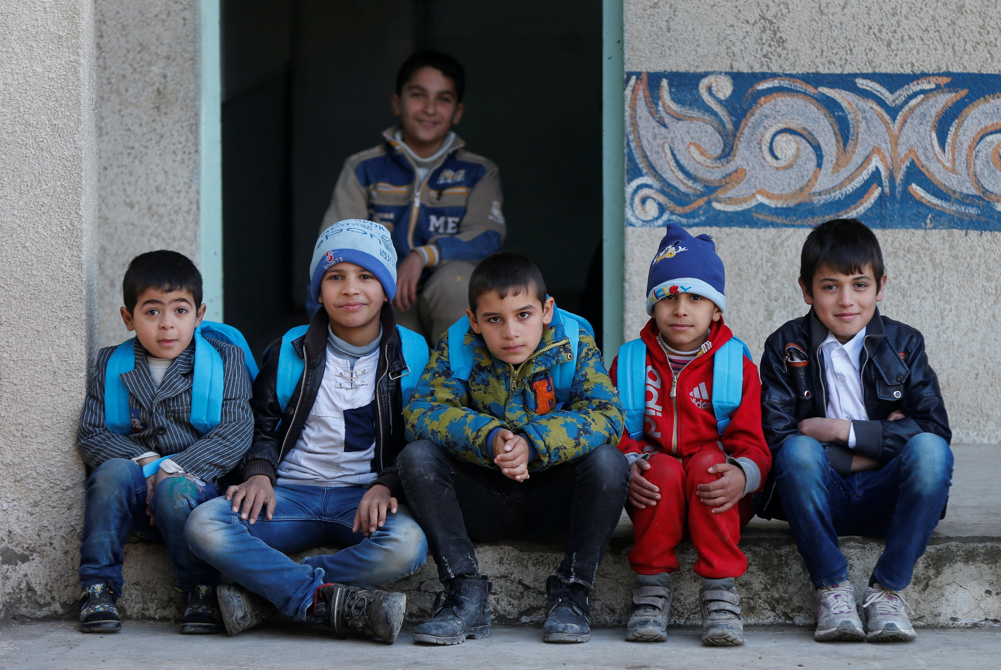 For two years, under the Islamic State regime, only boys were allowed to attend school in Mosul. Photo by Muhammad Hamed/Reuters