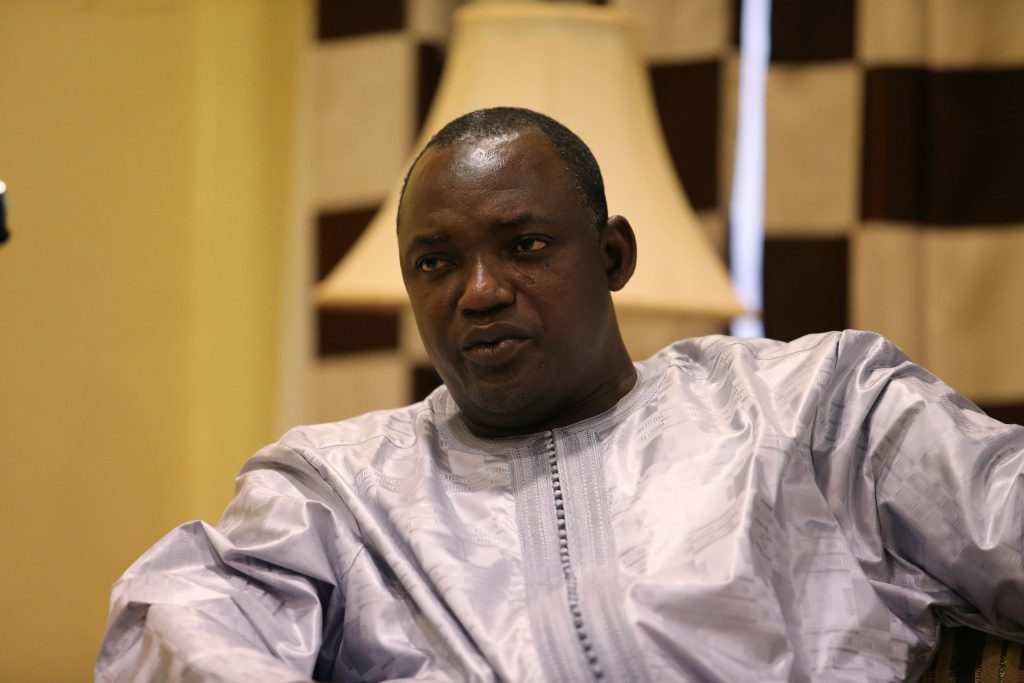 File photo of Gambian President-elect Adama Barrow by Afolabi Sotunde/Reuters