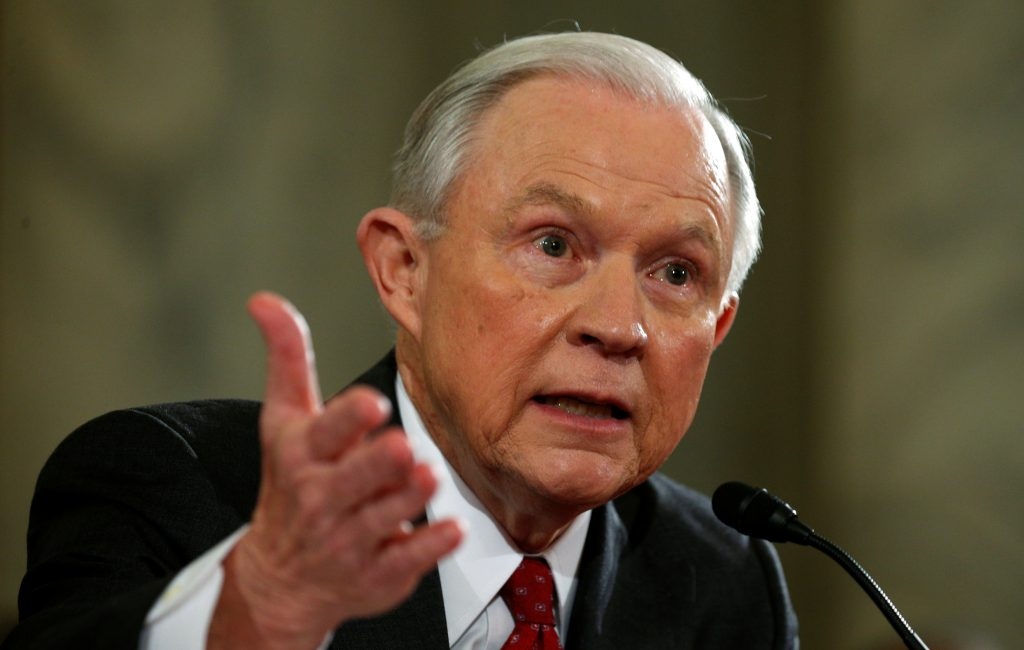 File photo of Jeff Sessions by Kevin Lamarque/Reuters
