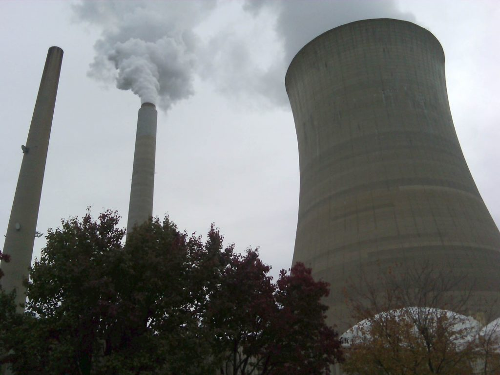 The American Electric Power Company's cooling tower at their Mountaineer plant is shown in New Haven, West Virginia October 27, 2009. Photo by Ayesha Rascoe/REUTERS