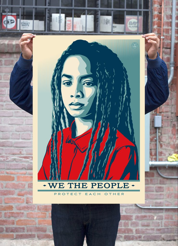 picture relating to Women's March Printable Signs identify Why Shepard Faireys inauguration protest posters wont include