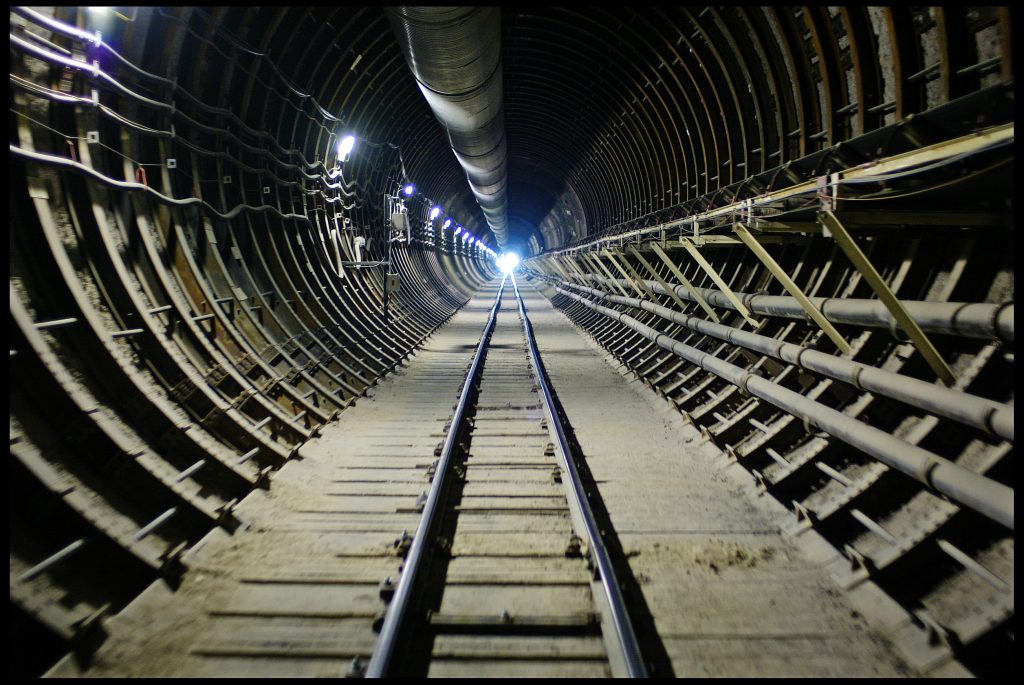 The railway that will bring the radioactive nuclear waste deep inside the Yucca Mountain Nuclear Waste Repository in Nevada. Photo by David Howells/Corbis via Getty Images