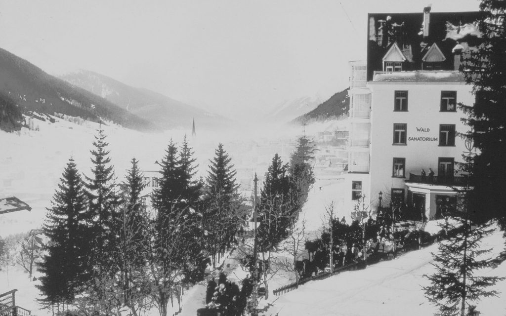 Davos was the location for the famous tuberculosis sanatorium featured in Thomas Mann's novel, The Magic Mountain.  Photo courtesy of World Economic Forum