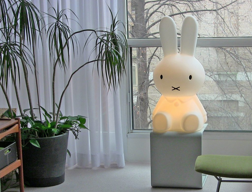 Miffy fashioned into a lamp. The book character is emblazoned on many items, from magnets to pencils to car air fresheners. Image: Flickr user Sharon VanderKaay.