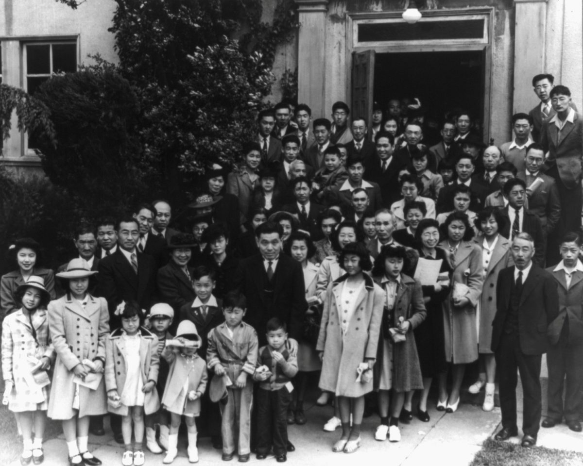 Members of the Japanese independent congregational church attending Easter services prior to evacuation of persons of Japanese ancestry from certain West Coast areas, in Oakland, in this April 1942 handout photo. February 19, 2017 marks the 75th anniversary of FDR signing executive order 9066, authorizing the internment of Japanese Americans during World War Two. Courtesy Dorothea Lange/Farm Security Administration and Office of War Information Collection/Library of Congress/Handout via REUTERS ATTENTION EDITORS - THIS IMAGE WAS PROVIDED BY A THIRD PARTY. EDITORIAL USE ONLY. - RTSZ5LD