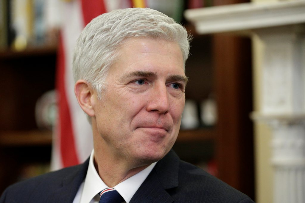 File photo of Supreme Court nominee Judge Neil Gorsuch by Joshua Roberts/Reuters