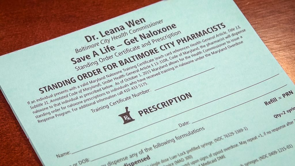 In October 2015, Baltimore City Public Health Commissioner Leana Wen wrote a standing order for naloxone, an opioid overdose antidote, for all 620,000 residents. Photo by Frank Carlson/NewsHour