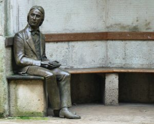 A statue of John Keats outside Guy's Hospital in London. Photo by  Flickr user under_volcano, via Creative Commons.