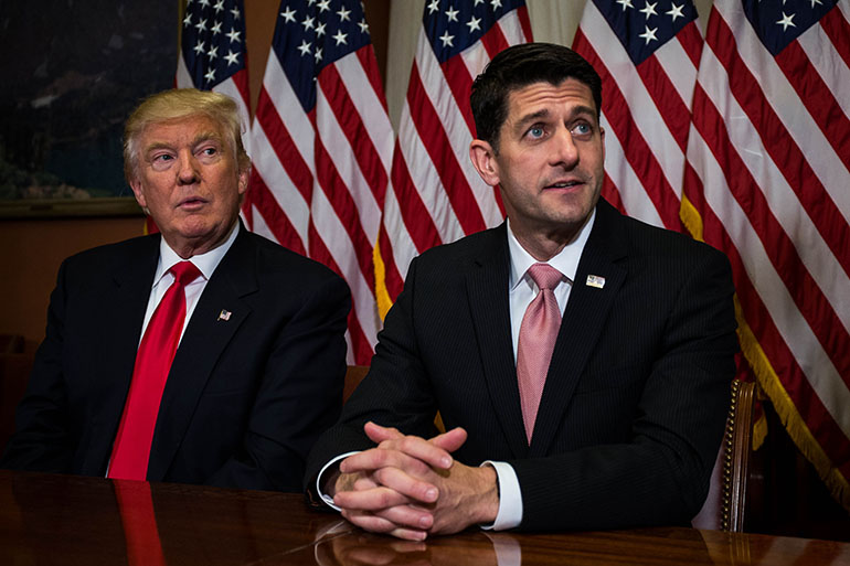 House Speaker Paul Ryan (R-WI) is among the Republicans who have made the case for high risk pools. Photo by Zach Gibson/Getty Images.
